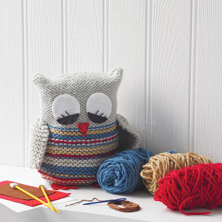 knit your own owl by the little knit kit company notonthehighstreet ...