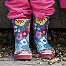 Multi Flower Wellyboots