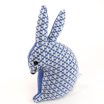Knitted Lavender Bunny Rabbit