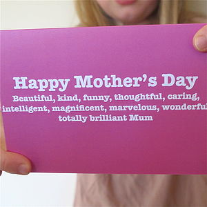 Mother's Day Appreciation Card