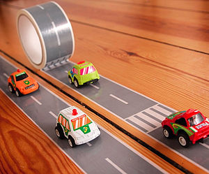 Road Tape Kit And Race Car Set - pretend play & dressing up