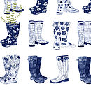 'Garden And Wellington Boot' Print