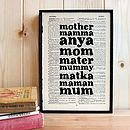 Mother's Day Framed Word Art