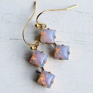 Opal Drop Earrings - earrings