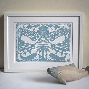 Personalised Jonah And The Whale Print - children's room