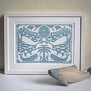 Sea Green colour in White Wood Frame
