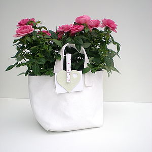 Marie Canvas Planter And Storage Bag - pots & windowboxes
