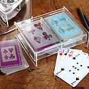Perspex Box With Two Packs Of Playing Cards