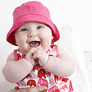 Cotton Baby Sunhat With Ties