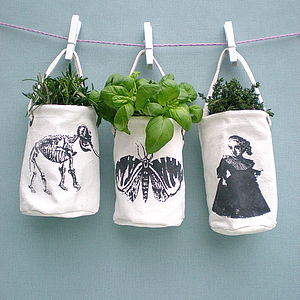 Marie Mini Canvas Planters - vases