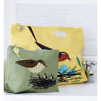 Birdy Robin Wash Bag Set