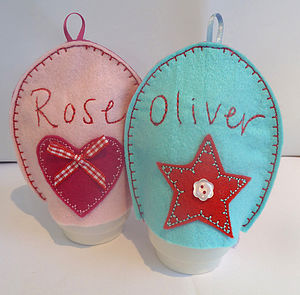Personalised Heart And Star Egg Cosies - egg cups & cosies
