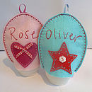 Personalised Heart And Star Egg Cosies