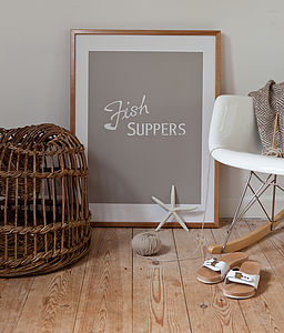 'Fish Suppers' Screen Print