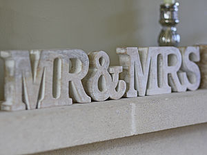 'Mr And Mrs' Sign - decorative letters