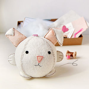 Make Your Own Rabbit Craft Kit - sewing & knitting