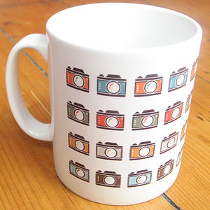 Colourful Camera Icons Mug - tableware