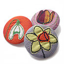 Spring Flower Embroidered Pin Badge