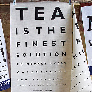 Eye Test Tea Towels - kitchen linen