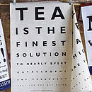 Eye Test Tea Towels Theme