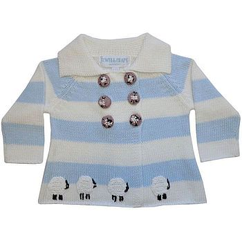 Baby's Knitted Baby Lamb Pram Coat