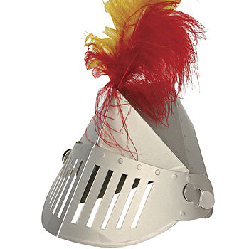 Pack Of Eight Knight Helmet Party Hats