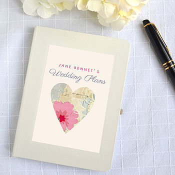 Personalised Wedding Plans Notebook