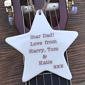 Personalised Father's Day Hanging Star - hanging decorations