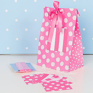 Pink Easy Wrap Gift Bag - ribbon & wrap