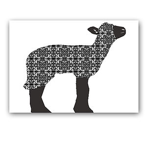 Baa Baa Black Sheep Nursery Art Print