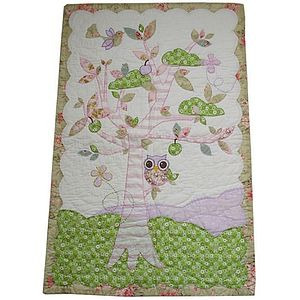 Owl Cot Quilt - soft furnishings & accessories