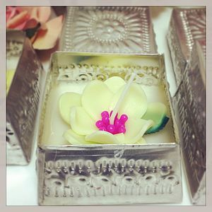 Peony Flower Candle In Decorative Tin - lights & candles