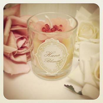Jasmine Scented Flower Candle In Glass Jar