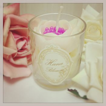 Oriental Flower Scented Candle In Glass
