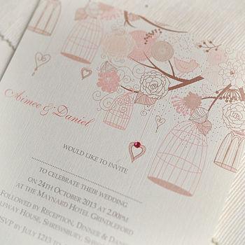 Summer Personalised Wedding Invitations