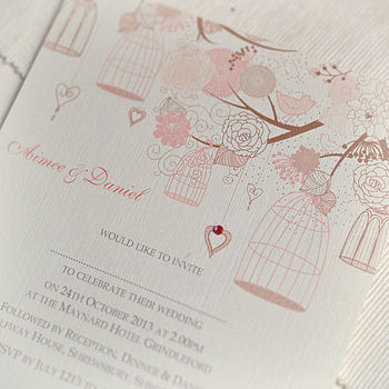 Summer Personalised Wedding Invitations