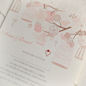 Summer Personalised Wedding Invitations - wedding stationery