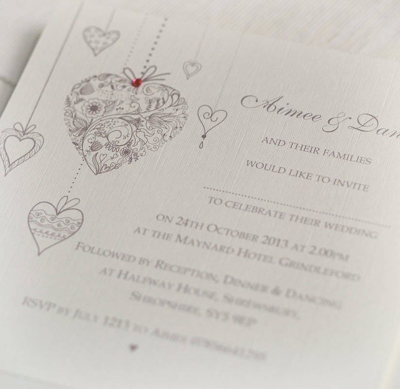 u0027Hearts Personalisedu0027 Wedding Invitations u0027 hearts personalisedu0027