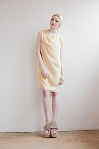 Sunset Silk Shift Dress - dresses & skirts