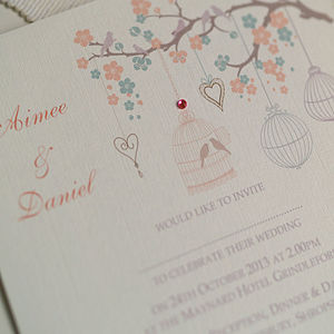 Pastel Wedding Design Invitations - wedding stationery