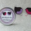 Bird Brooch Sewing Kit