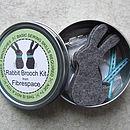 Rabbit Brooch Sewing Kit