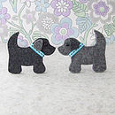Dog Brooch Sewing Kit