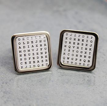 Personalised Wordsearch Cufflinks