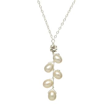 Fern Drop Pearl Necklace