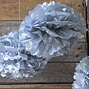Pack Of Five Paper Poms