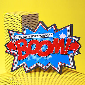 'Boom!' Comic Cracker Card