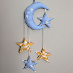 Moon And Stars Mobile - baby's room