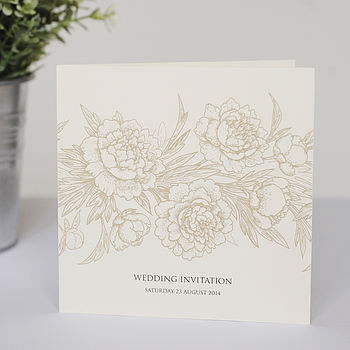 Floral Folded Wedding Invitations