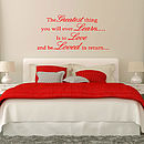 Learn To Love Quote Wall Stickers Uk
